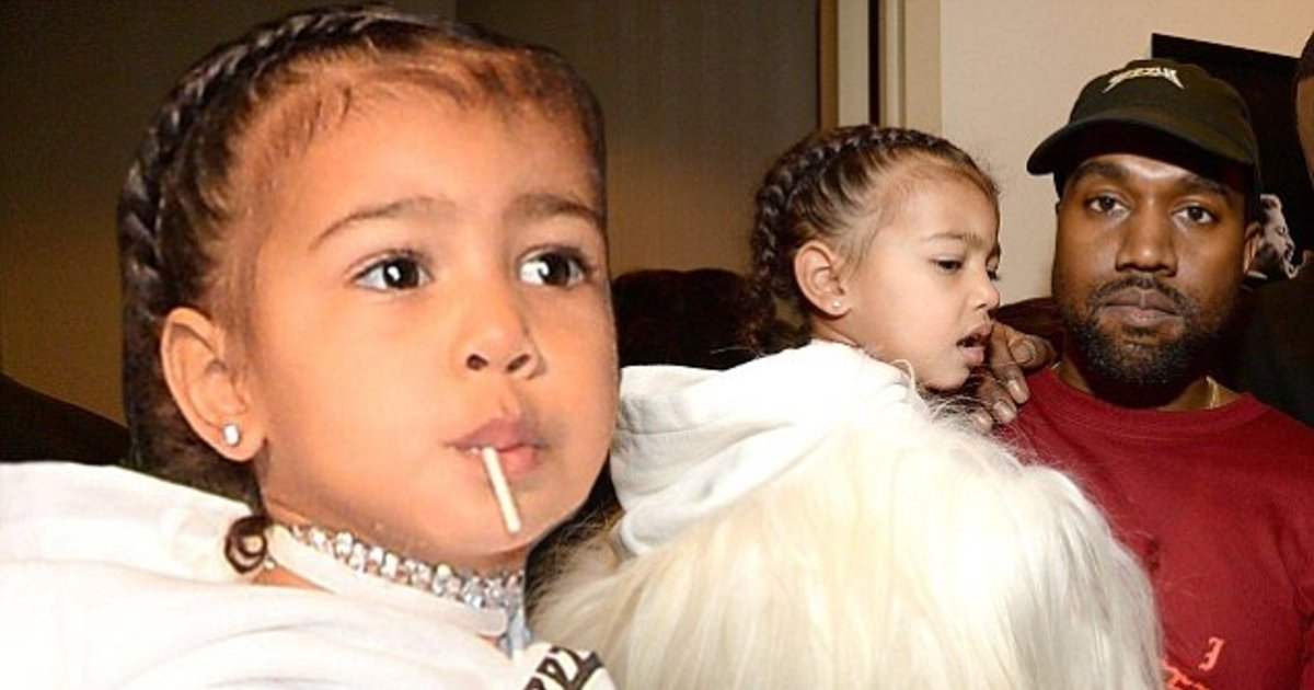 311cb59c00000578 0 image a 4 1455245760801 1.jpg?resize=412,232 - Video: Kanye West's Daughter North Singing Drake's 'In My Feelings' song