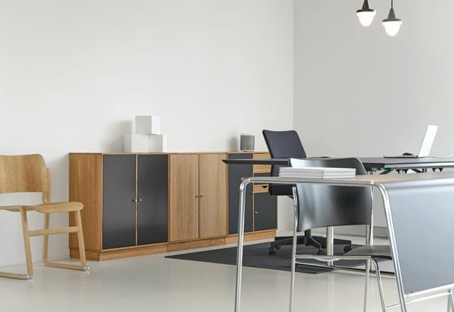 Using storage units that require less effort would help avoid the clutter on your desk (Pexels)