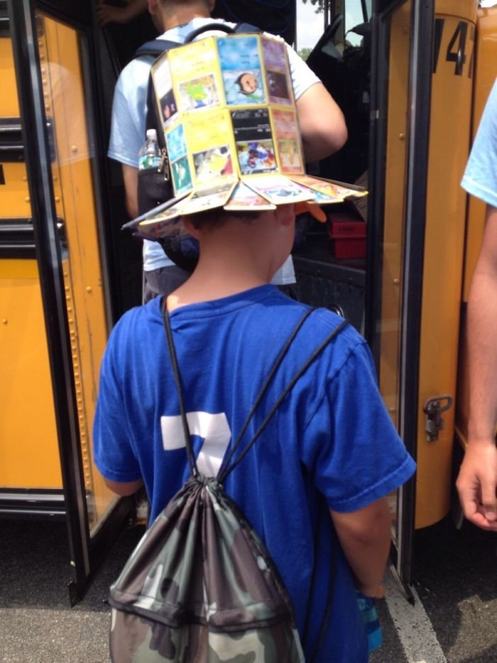 This Kid Made A Top Hat Out Of Pokémon Cards