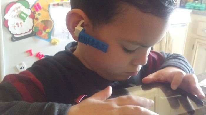 My Nephew Wanted A Matching Bluetooth, So He Made One Out Of Lego Bricks!