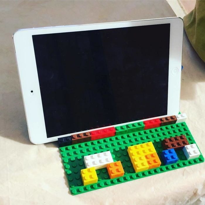 """I Asked For An iPad Holder For The Kitchen And Got A Lego One With """"Mom"""" On It"""