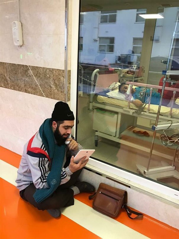 This Iranian Boy Has Cancer, Yet His Teacher Comes To Visit Him Everyday In Hospital To Fill Him In On What He Has Missed At School