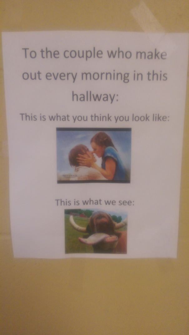 One Of The English Teachers At My Highschool Put This In The Hall Outside Her Door