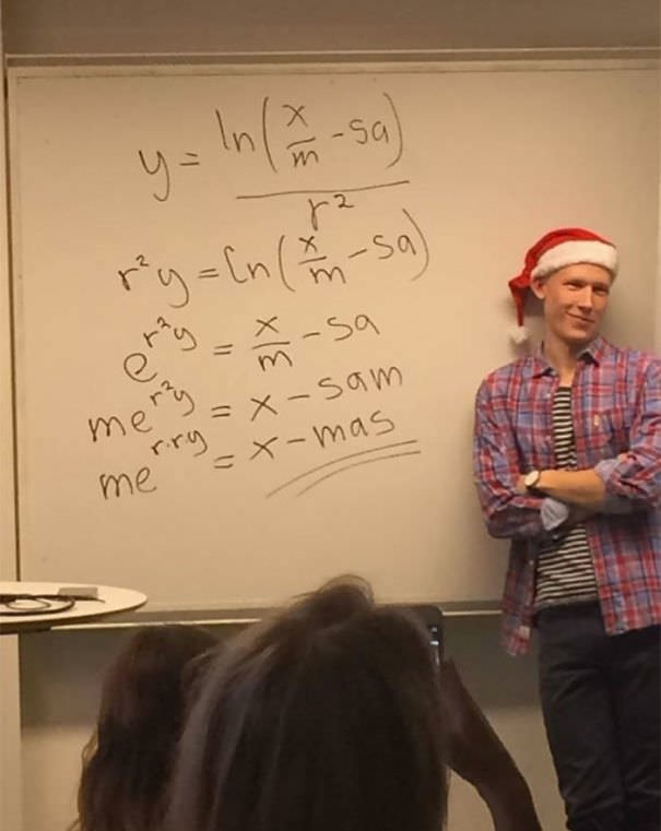 This Math Teacher Solves For