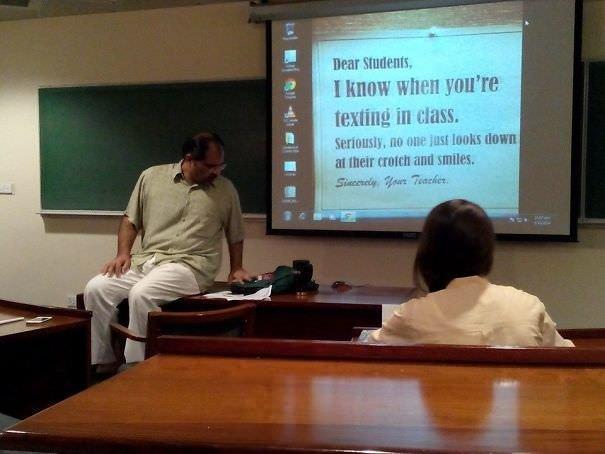 This Teacher Knows...