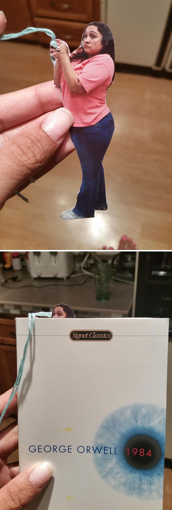 I Asked My Mom For A Cool Bookmark And This Is What She Gave Me (Yes, That Is My Mother)