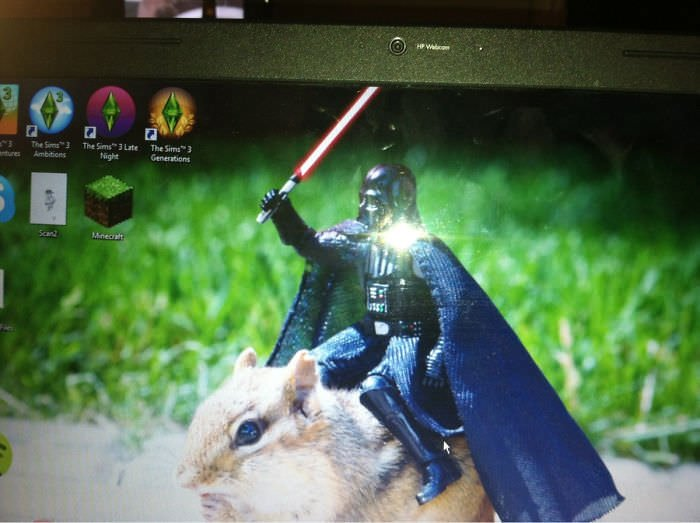 Roommate Brought Home A New Girl, This Is Her Desktop Background... I Think He