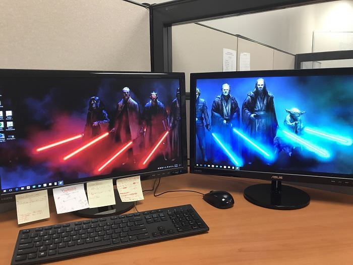 My Desktop Set Up At Work