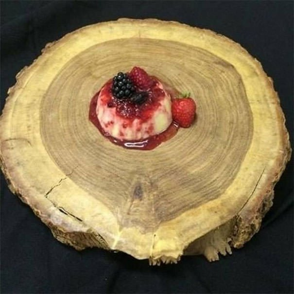 "Because When I Think Panna Cotta, I Think ""Giant Piece Of A Tree Trunk"""