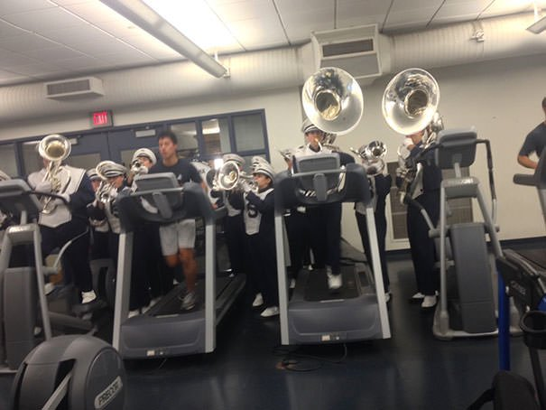 There Was A Marching Band At The Gym Today