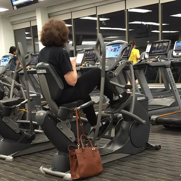 Apparently, I Have Been Doing Cardio Wrong My Whole Life. She Has A Coffee And A Kindle