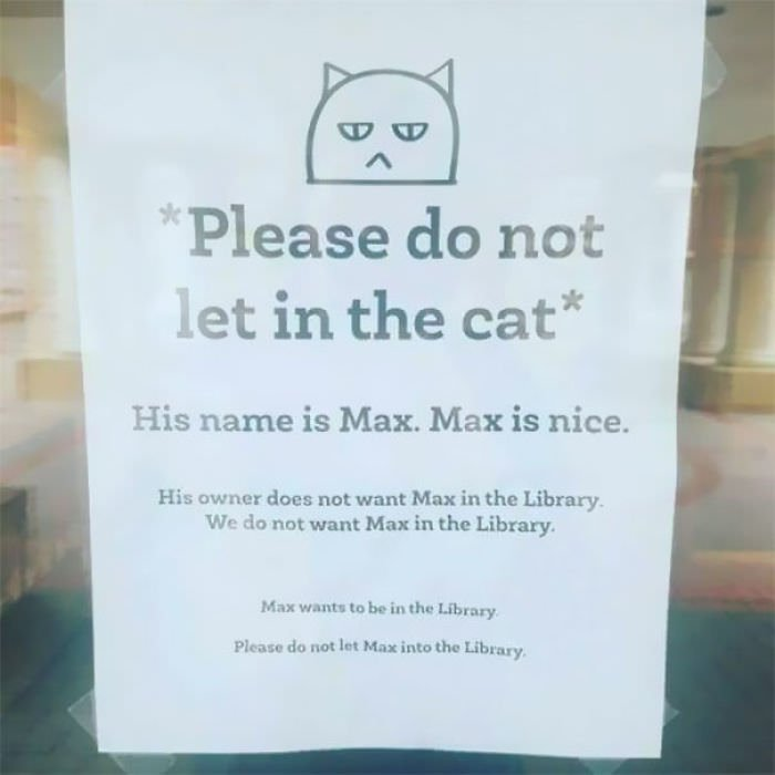 """Please Do Not Let In The Cat"""""""