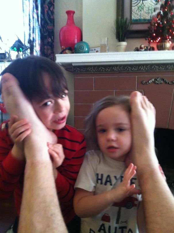 So, My Wife Told Our Kids That The Way To Talk To Santa Was Through Phones In Daddy