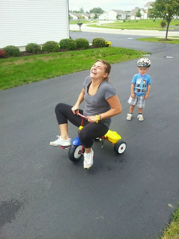 My Sister And Nephew-She Could Be Mom Of The Year (His Face Is Priceless)