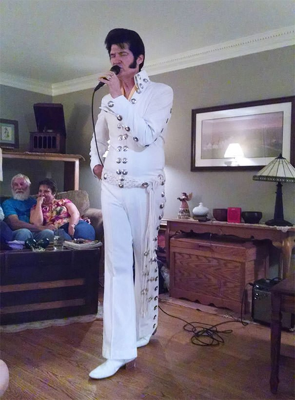 My Family Is Pretty Odd. Tonight, My Mom Hired An Elvis Impersonator And Didn