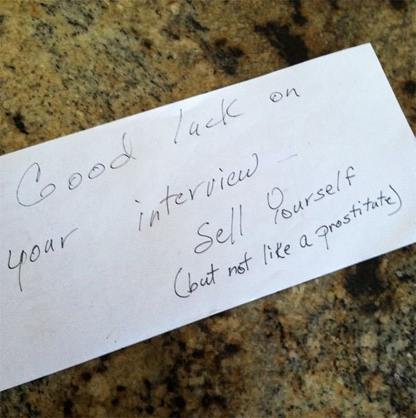 I Was Nervous For An Interview Today, So My Mother Left Me This To Make Me Smile