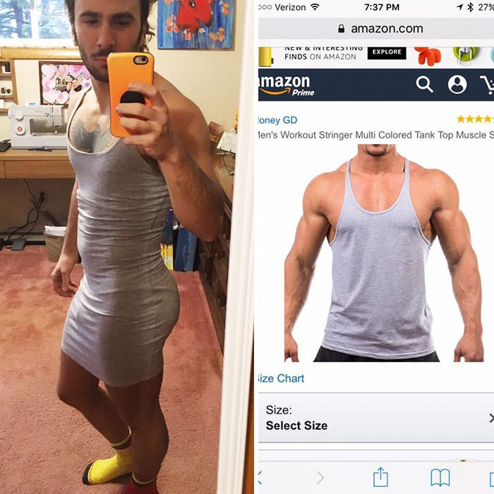 I Got This Tank Top On Amazon And They Sent Me A Dress. On The Plus Side It Does Make My Ass Look Great