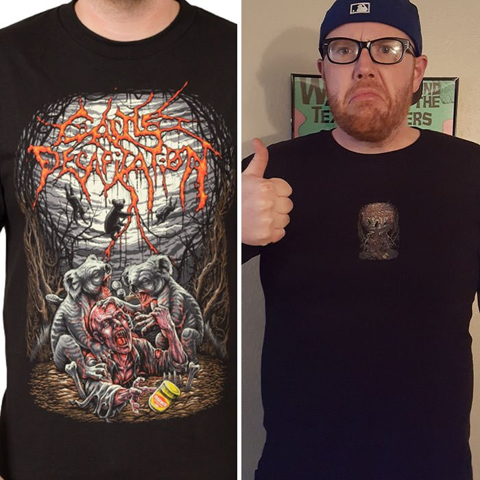 Shirt Online Vs. Reality...