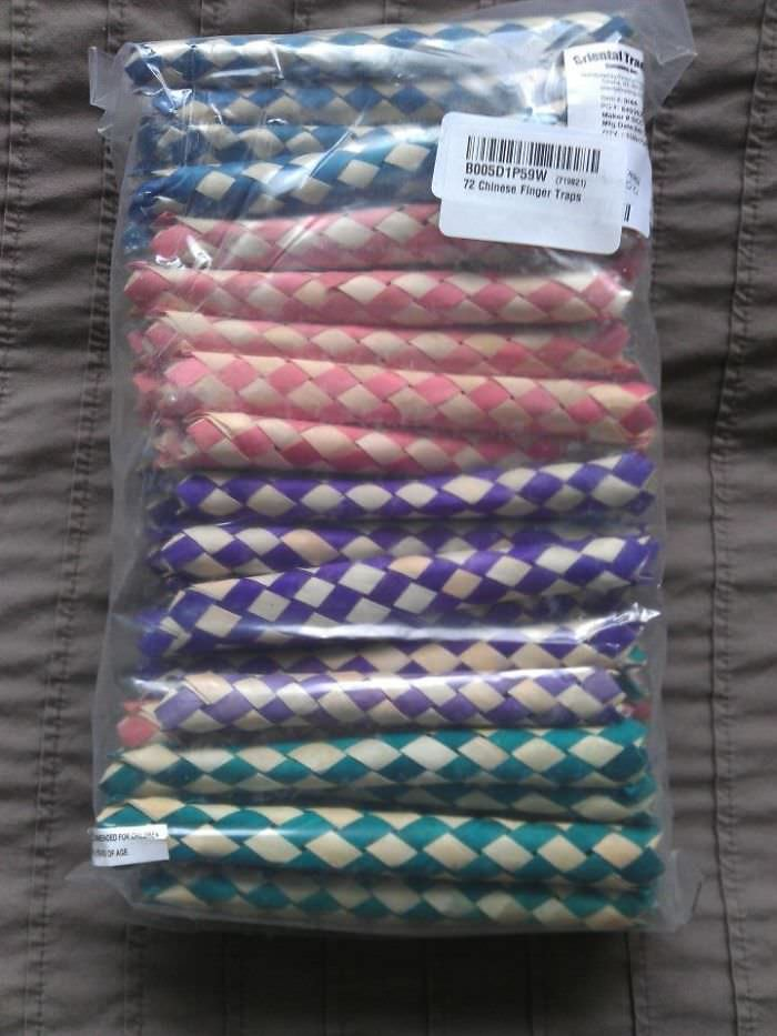 In An Unusual Turn Of Events, Amazon Has Decided To Mail Me 72 Chinese Finger Traps Instead Of My Multivitamin