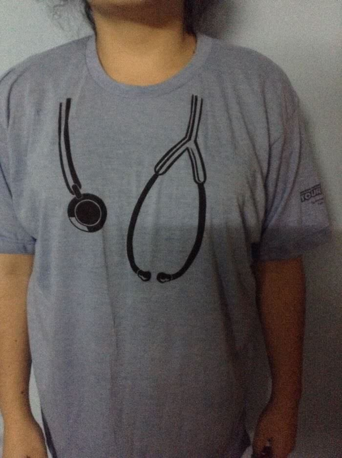 Me And Some Friends From Med School Ordered Like 60 Of These. It Was Supposed To Look Like You Have A Stethoscope On Your Shoulders