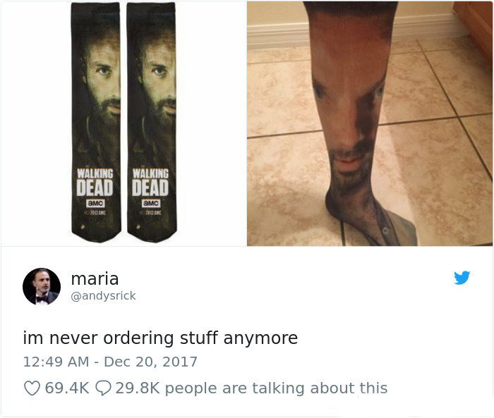 Look At These Amazing Walking Dead Socks!