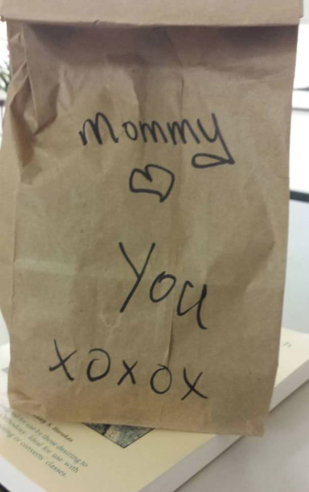 My Mom Packed My Lunch For Me Today For Work. I