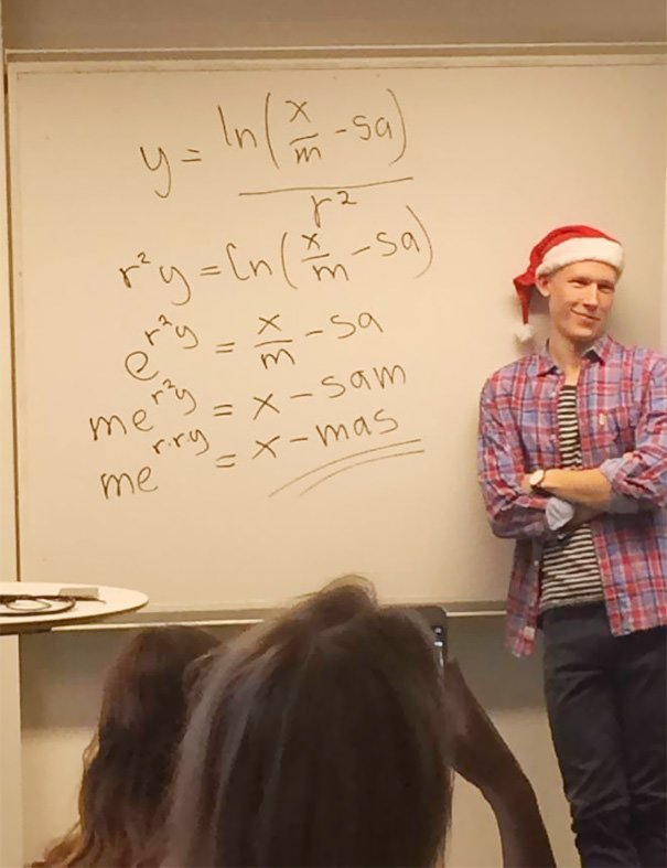 This Math Teacher Solves For X-mas