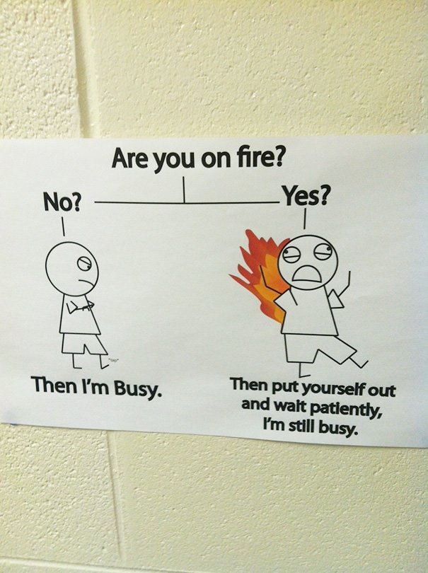 Are You On Fire? Teacher Posted This In Her Classroom