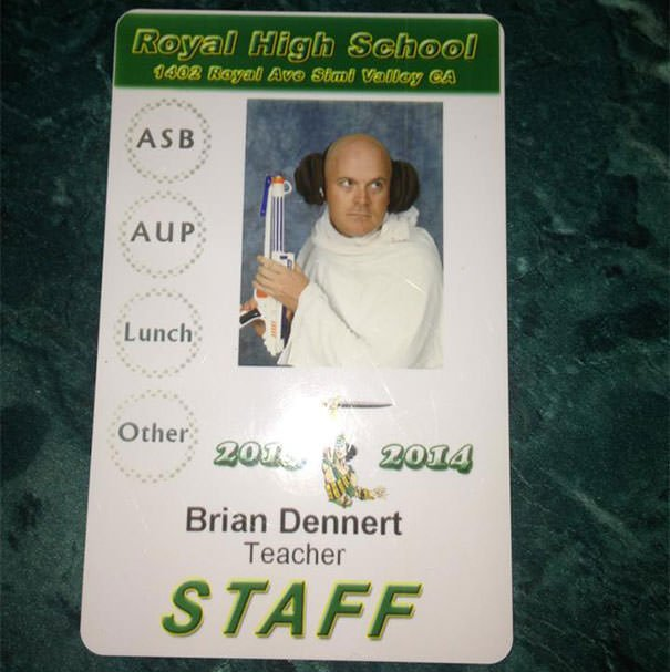 My History Teacher Gets Pretty Creative With His Id
