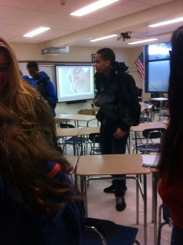 My Teacher Put My Selfie On The Whiteboard