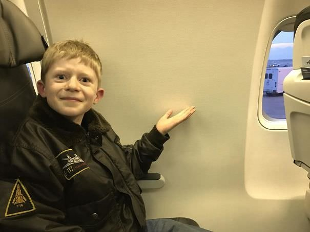 We Booked A Window Seat On A Airplane For My Boy