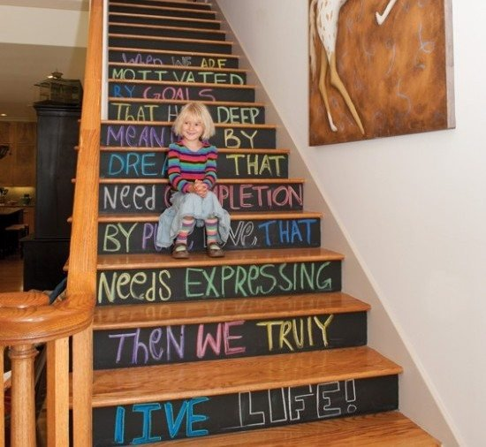 chalkboard-paint-stairs