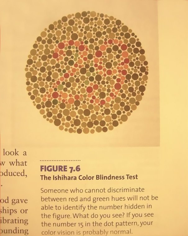 This Color Blindness Test In A Textbook