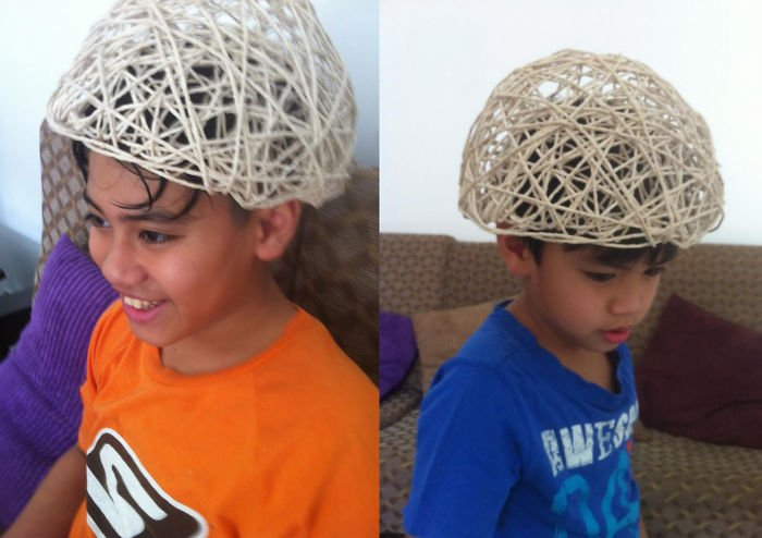 3d Helmet Made Of Yarn