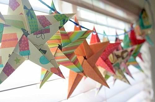 origami-star-garland
