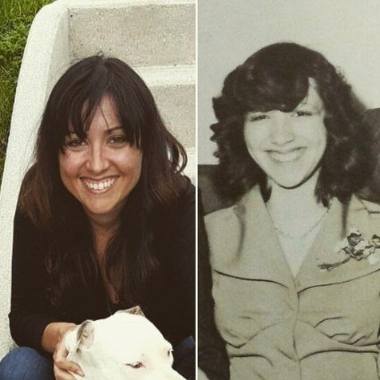 """My mom and I have the same smile and nose."" —katd497fa0216"