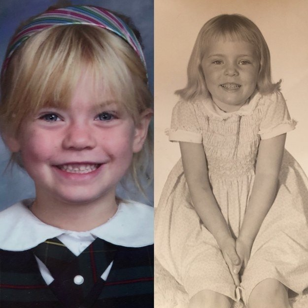 """I'm on the left at 5 years old and my mom is on the right at 5 years old, as well."" —abbyl4727323b2"