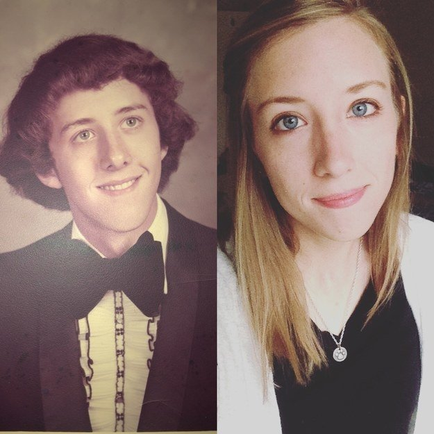 """My dad and I are very similar in appearance and personality. He actually looks a lot like my grandmother when she was young as well."" —racheln46f3c82a4"