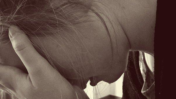 여자, 절망적 인, 슬픈, 눈물, 울다, 우울증, 상, 절망, 희망 없는