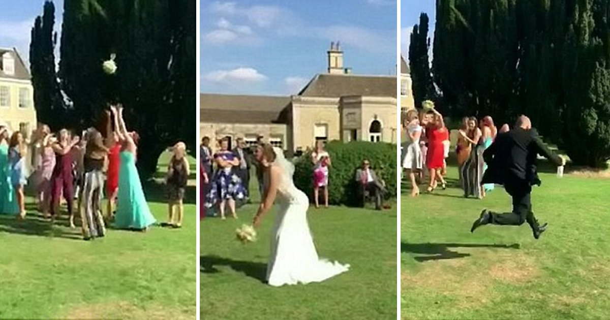 agaa.jpg?resize=412,232 - Boyfriend Ran Away When His Girlfriend Caught The Wedding Bouquet