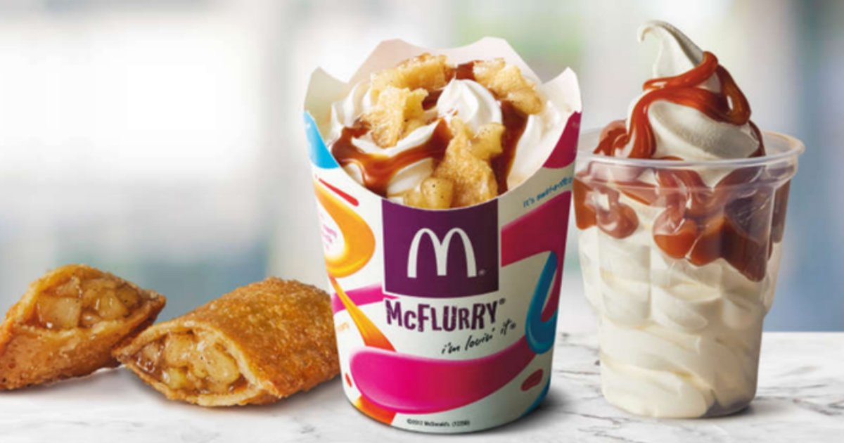 apple flurry.jpg?resize=300,169 - McDonald's Is Bringing Out The Best Dessert: Apple Pie McFlurry! A New Permanent Addition To Their Menu
