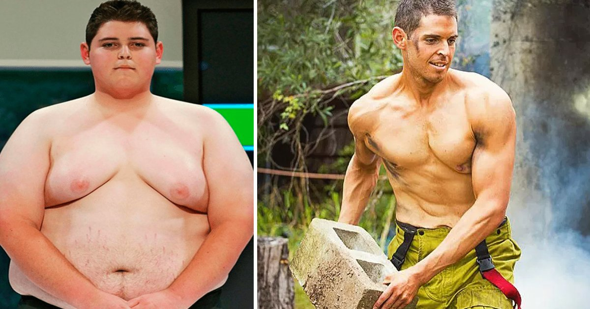 "bgagag.jpg?resize=636,358 - Winner Of The Title ""The Biggest Loser"" Was Bullied By People. Now He Is A Great Firefighter, Saving And Changing Lives"