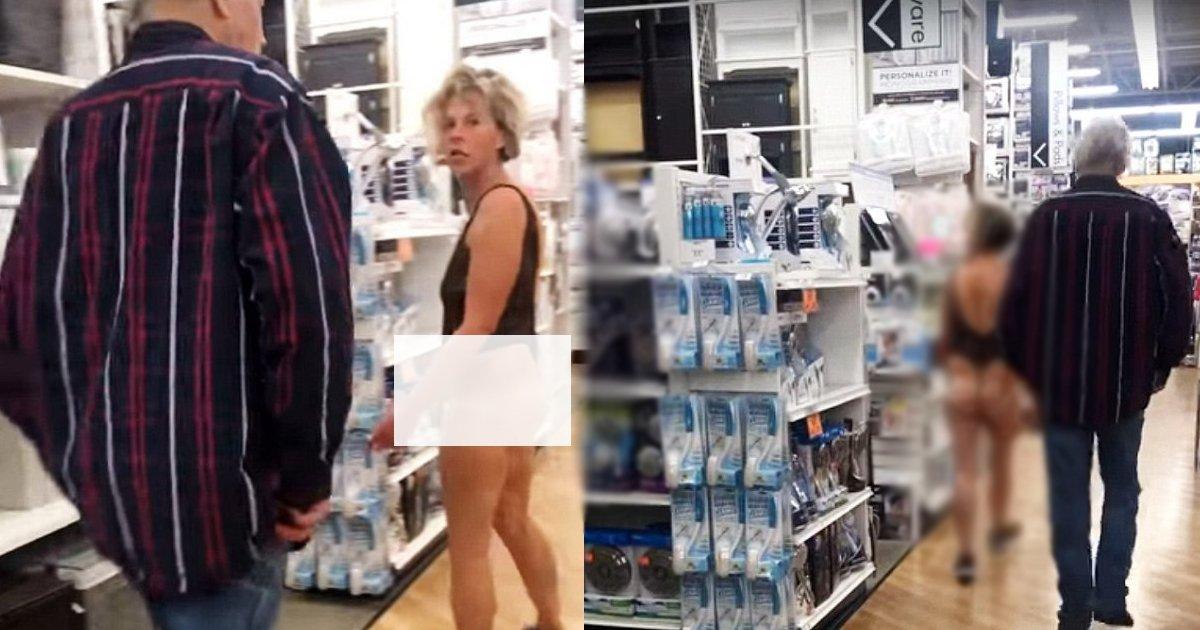 bgs 1.jpg?resize=1200,630 - Mulher vestindo nada além de lingerie é vista transitando dentro de uma grande loja