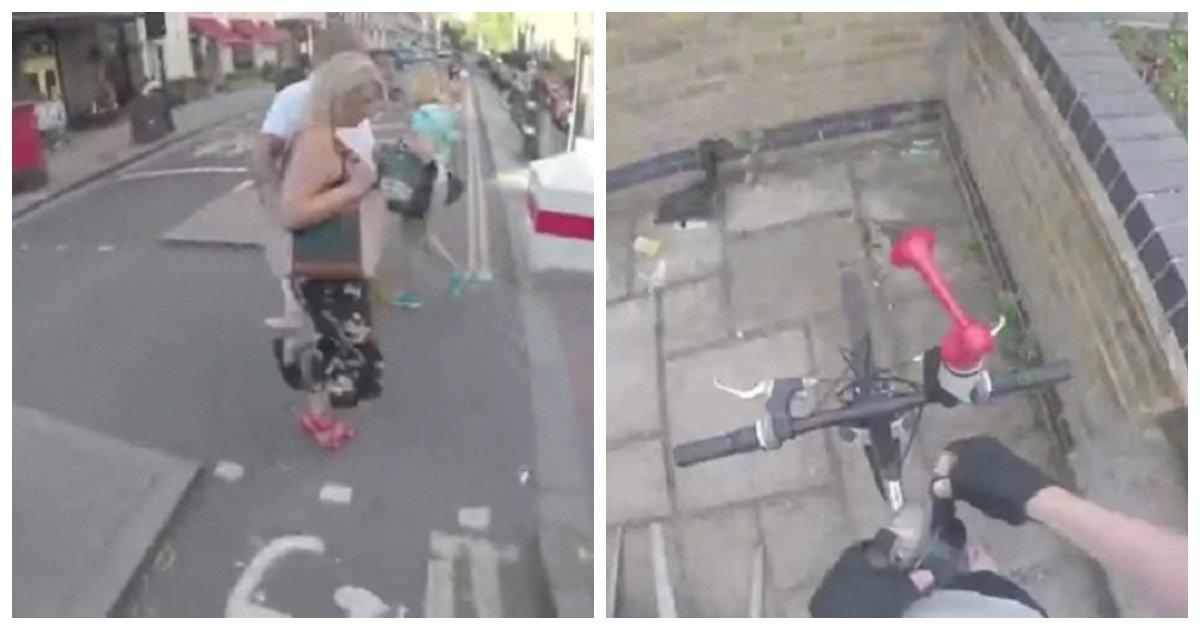 biker.jpg?resize=648,365 - Ciclista em Londres compra uma buzina de ar para que ele possa buzinar para pedestres que andam na ciclovia