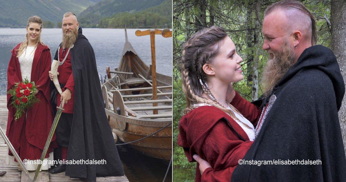 bodavikinga.jpg?resize=300,169 - Después de casi mil años, se vuelve a realizar una boda vikinga al lado de un lago en Noruega