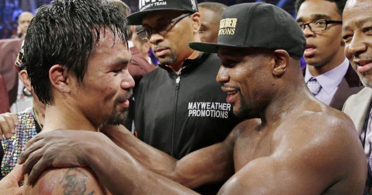 boxing4.png?resize=412,275 - Floyd Mayweather sai da aposentadoria para lutar contra Manny Pacquiao por uma soma de nove dígitos!