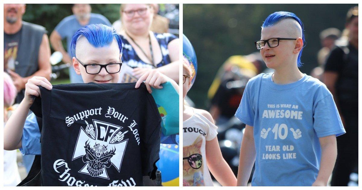 boy.jpg?resize=412,232 - Des motards font un incroyable défilé de soutien pour la fête d'anniversaire d'un garçon où seulement trois invités ont confirmés