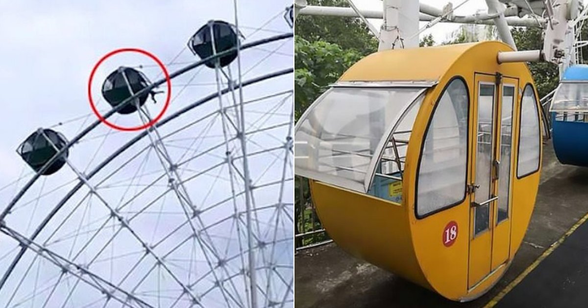 boy4.png?resize=1200,630 - Moment terrifiant : un petit garçon de 5 ans glisse et se balance depuis la cabine d'une grande roue à près de 40 mètres de haut
