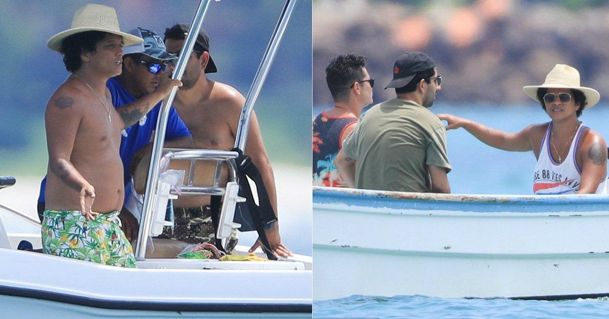 bruno mars.jpg?resize=412,232 - Bruno Mars rejoint sa petite amie Jessica Caban en vacances