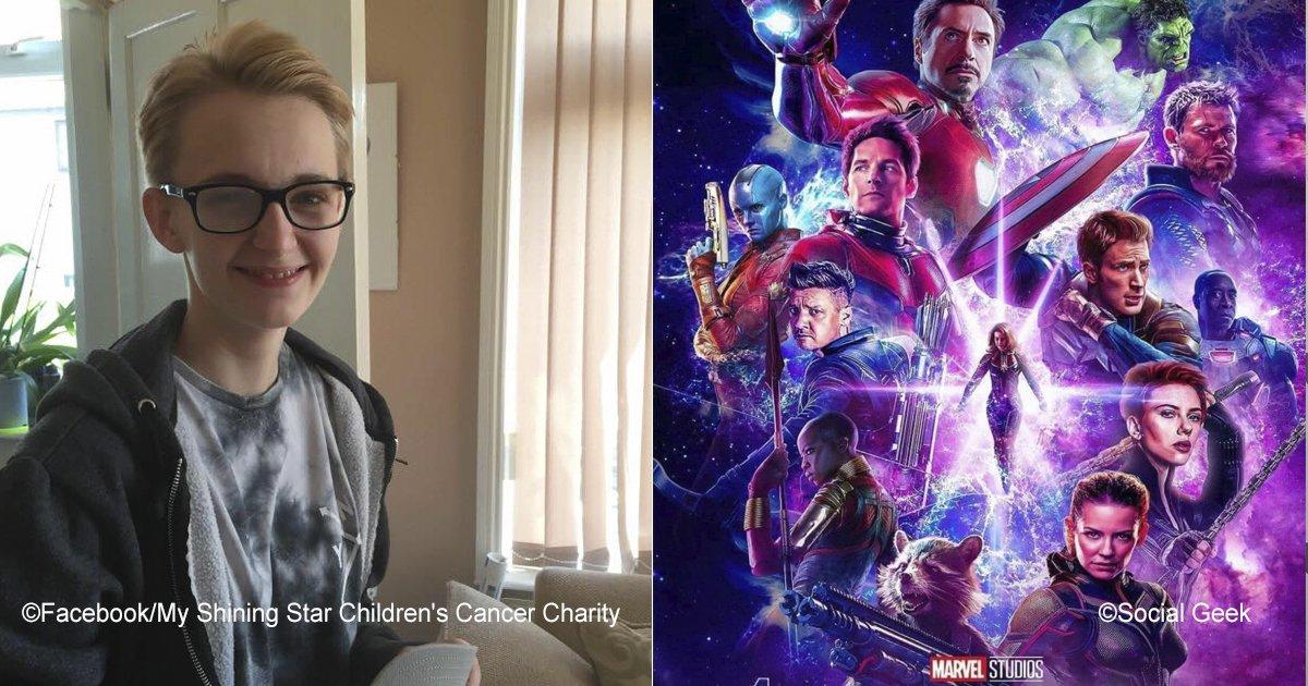 """cancer.jpg?resize=1200,630 - Seu último desejo antes que o câncer termine com sua vida é assistir ao final de """"Avengers 4"""" e ele pediu isso a """"Marvel"""""""